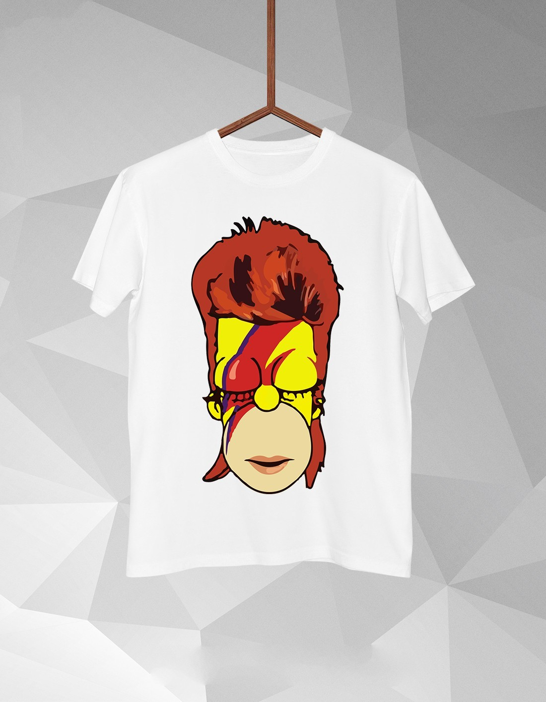 Bowie Simpsons T Shirt For Men